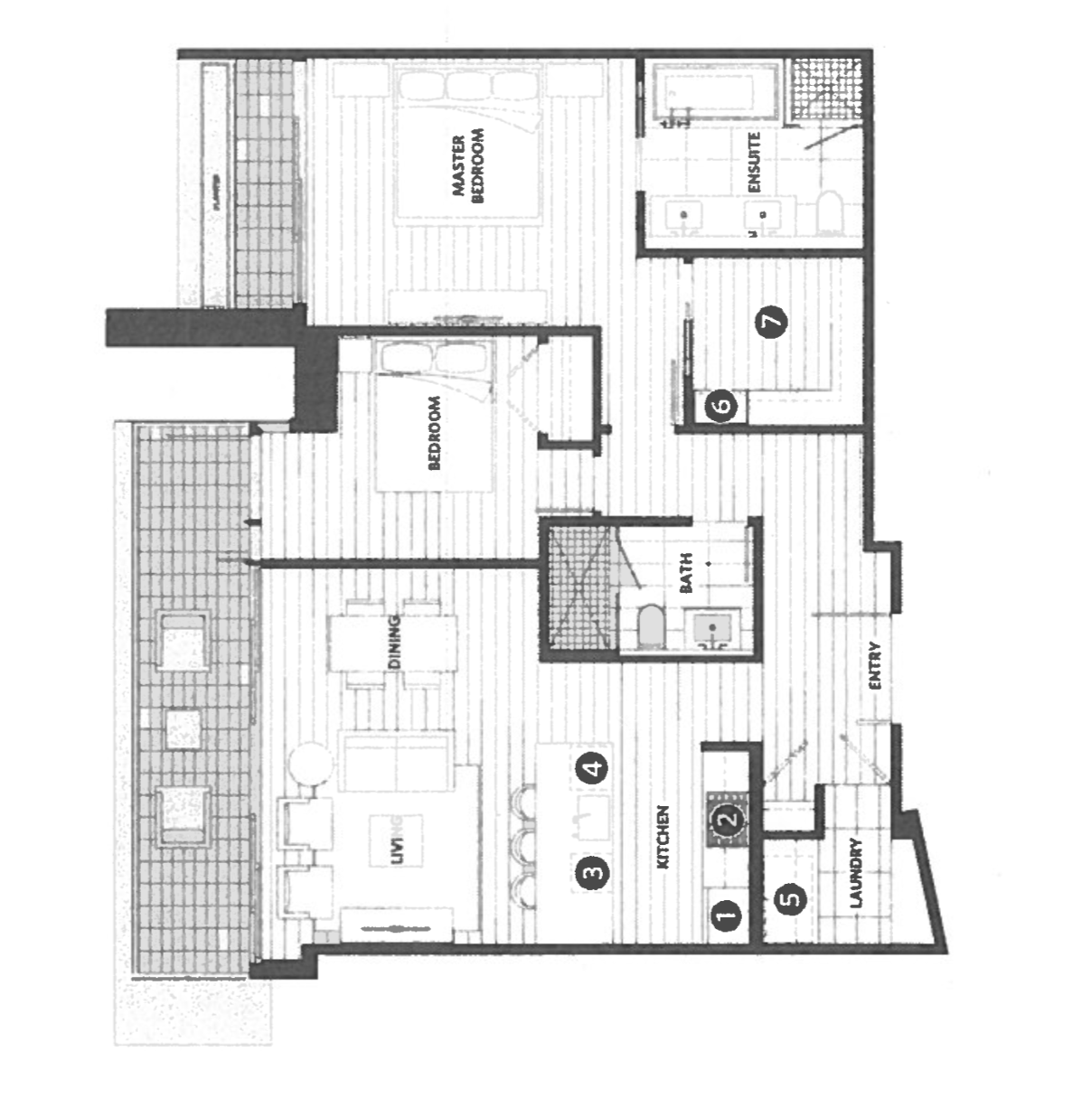 James Cheng Modernism in Ambleside - Floor Plan