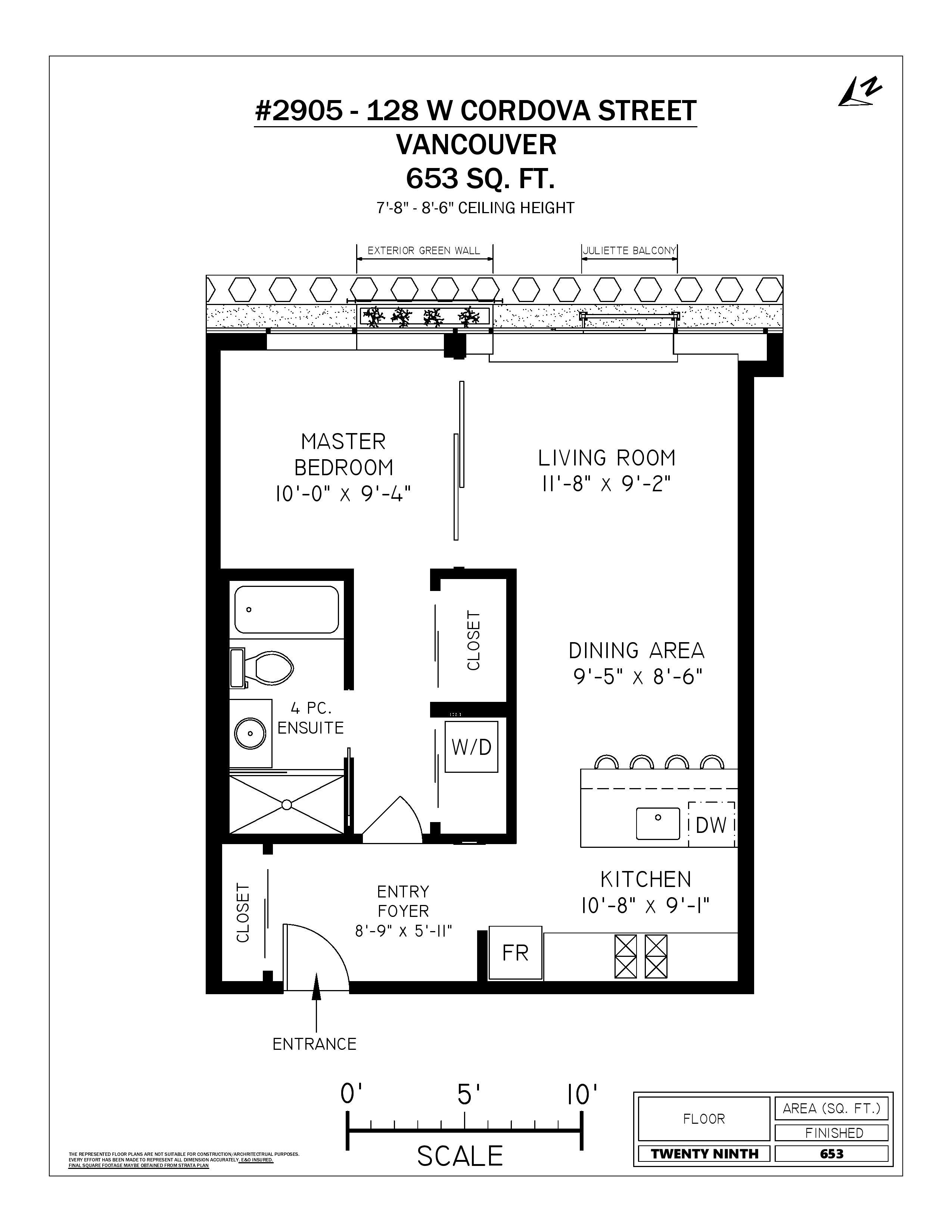 2905 128 W Cordova - Floor Plan