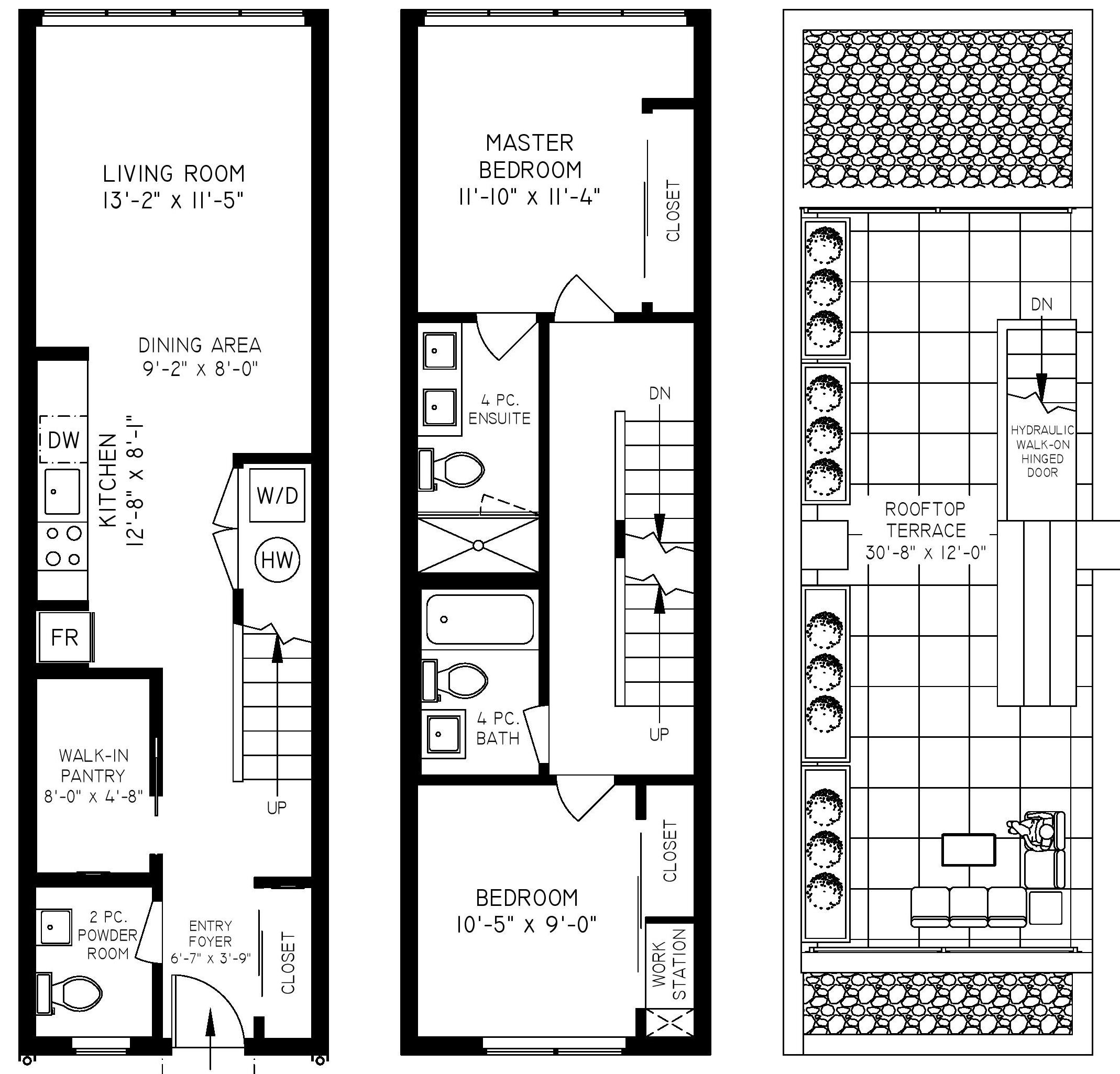 302 557 E Cordova - Floor Plan