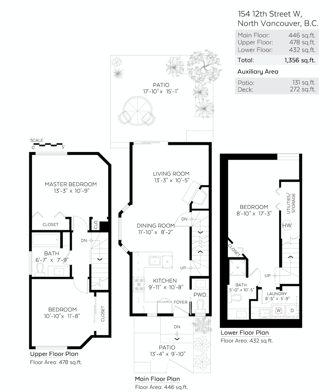 Fully Renovated Central Lonsdale Townhome - Floor Plan