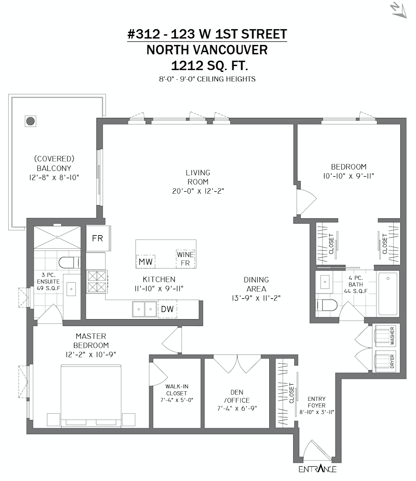 312 123 First Street West, North Vancouver - Floor Plan