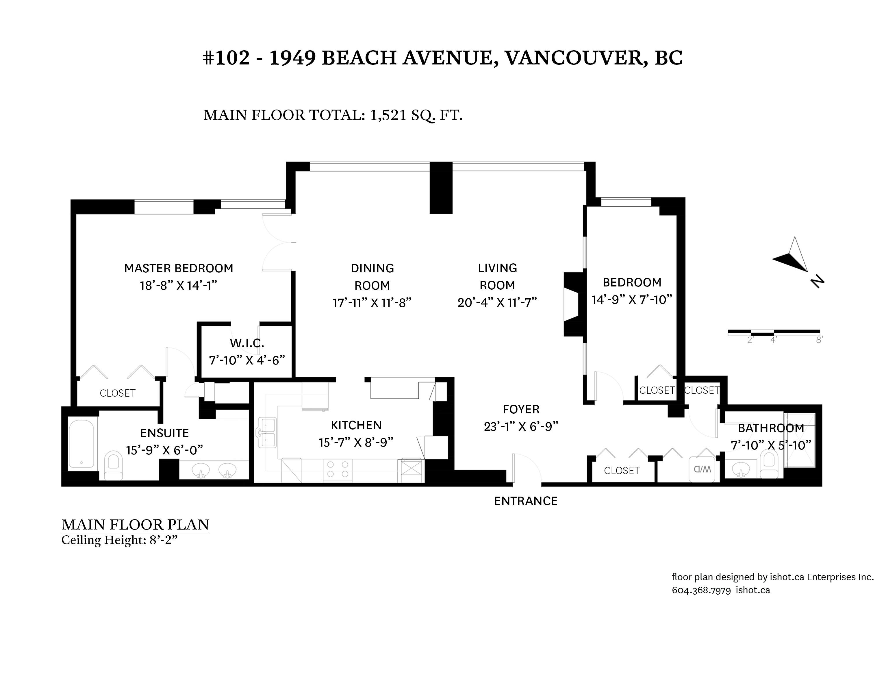 102 1949 Beach Ave - Floor Plan