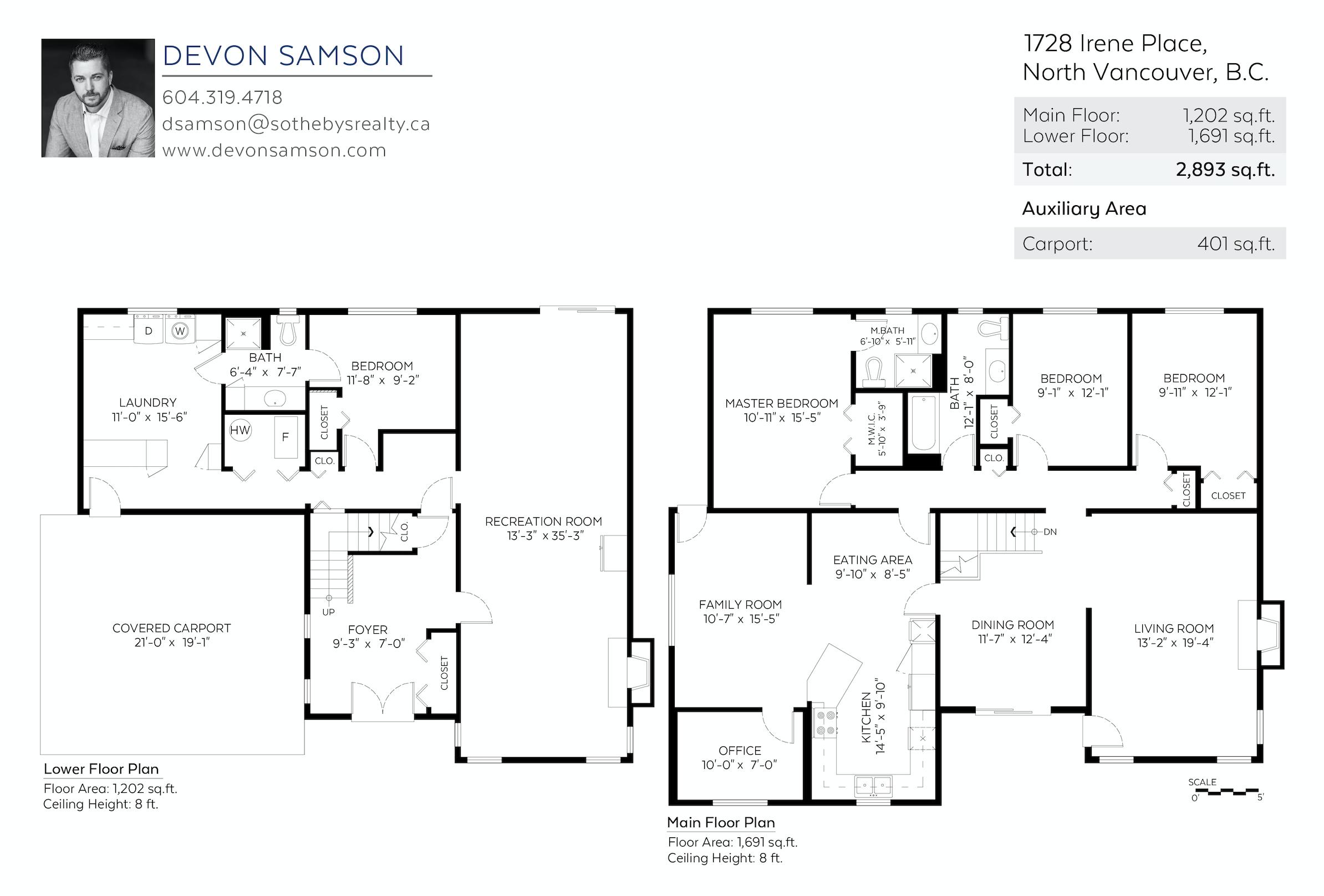1728 Irene Pl, North Vancouver - Floor Plan