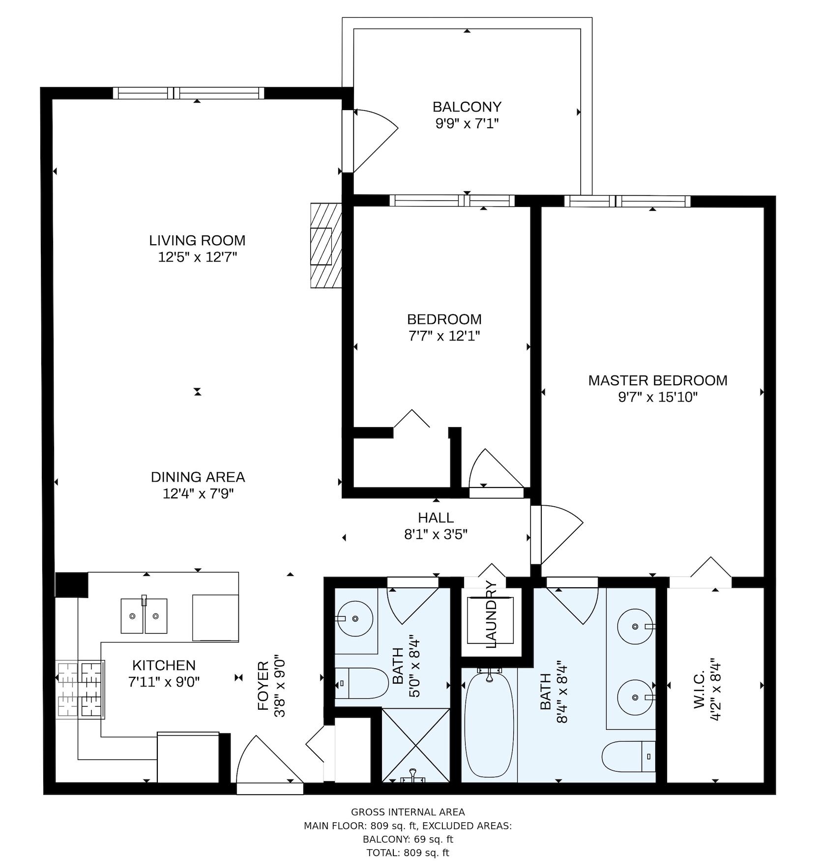 309 701 Klahanie Dr - Floor Plan