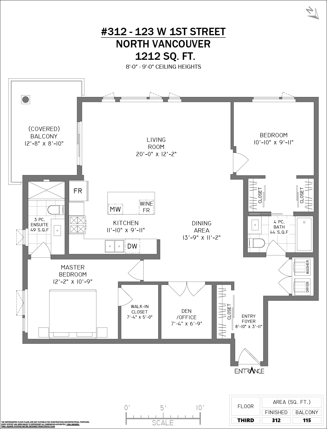 312 123 1st st w North Vancouver, BC - Floor Plan