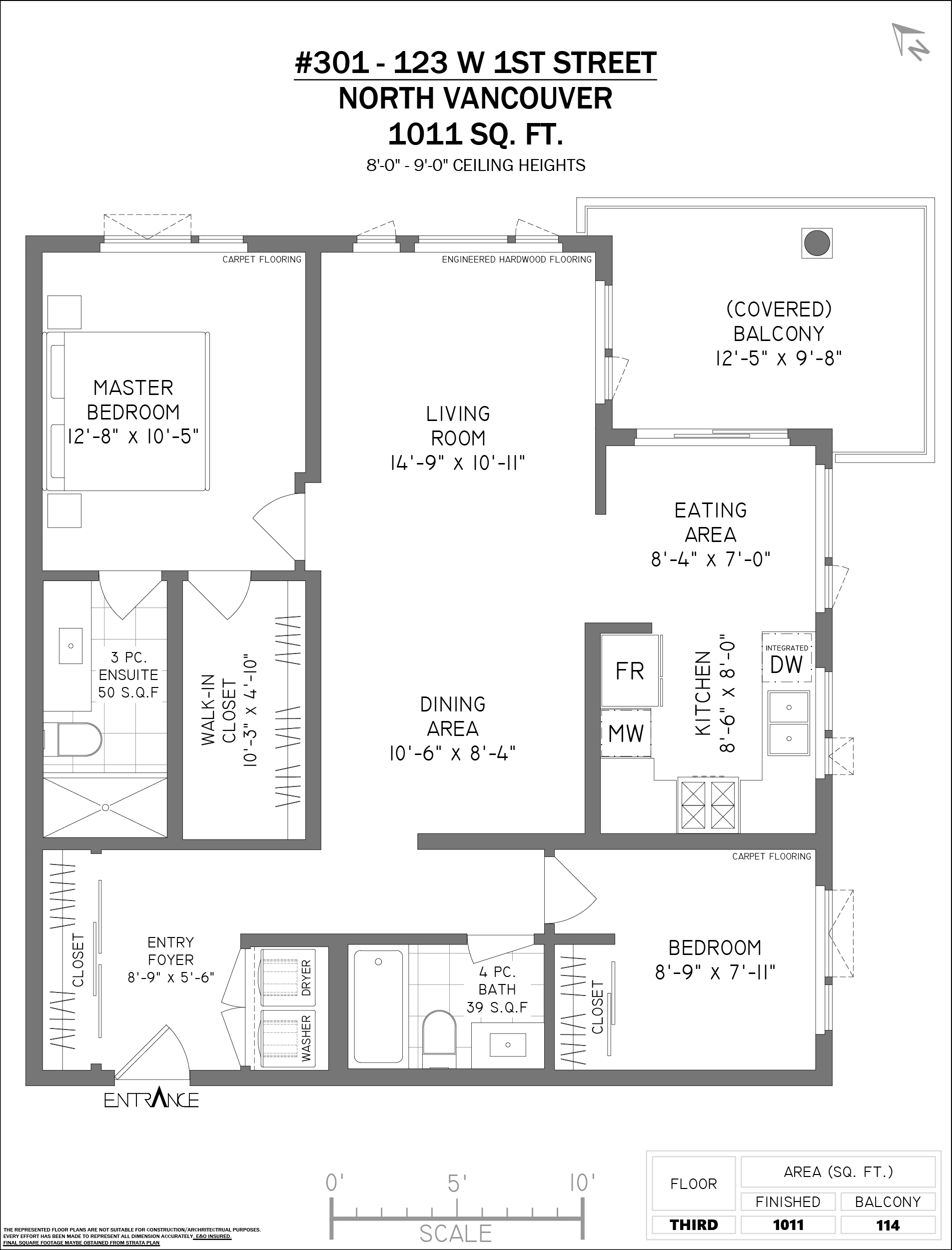 301 123 1st st w North Vancouver, BC - Floor Plan
