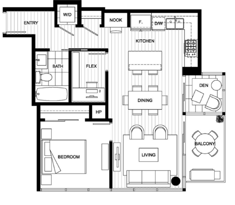 905 111 E 1st Ave Vancouver - Floor Plan