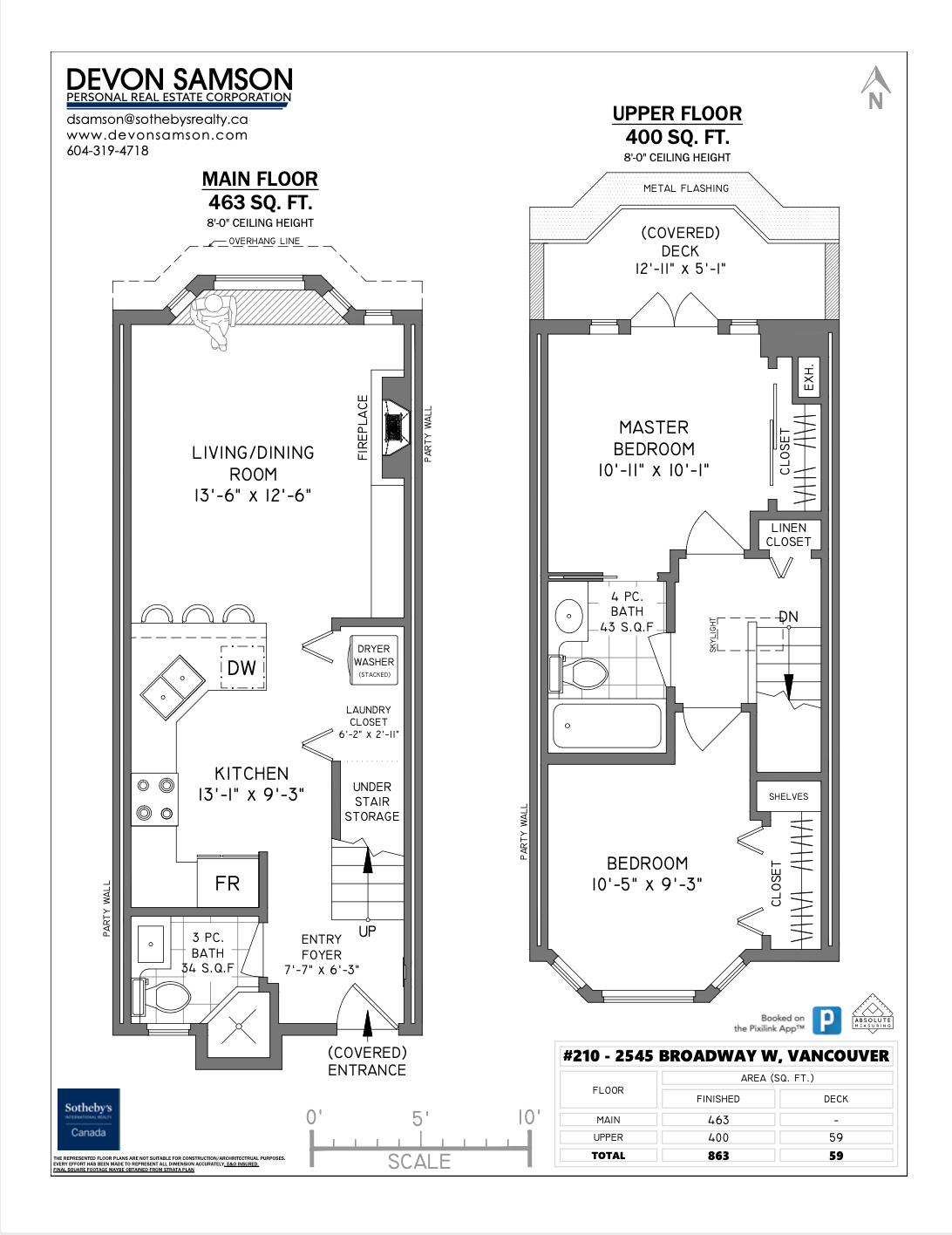 210 2545 W Broadway Vancouver, BC - Floor Plan