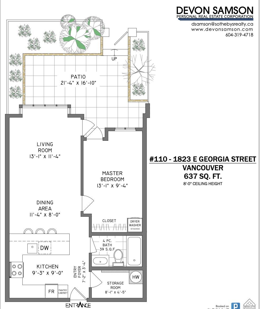 110 1823 E Georgia - Floor Plan